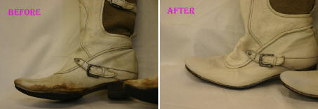 革ブーツクリーニング