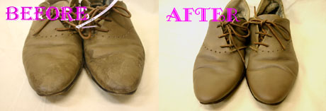革靴クリーニング